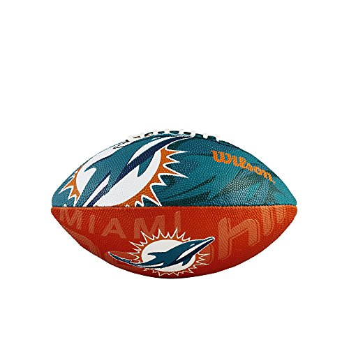 - Wilson Junior Team Logo Football (Miami Dolphins)