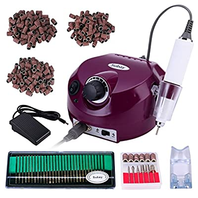 30,000RPM Professional Electric Nail Drill File Manicure Pedicure Machine Kit Set with Sanding Bands Accessory Finger Nail Tools for Nail Salon and Personal Use