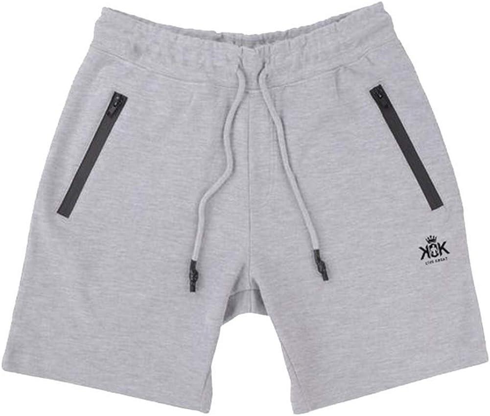 Grimgrow Mens Workout Running Shorts Elastic Waist Drawstring Sweat Short Pants