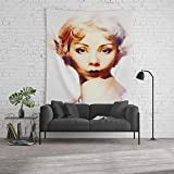 Society6 Wall Tapestry, Size Large: 88'' x 104'', Alice White, Vintage Movie Star by esotericaartagency
