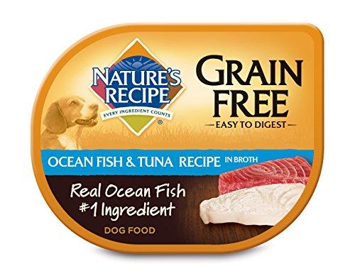 Nature's Recipe Grain Free Wet Dog Food, Ocean Fish & Tuna Recipe in Broth, 2.75 oz (Pack of 24)