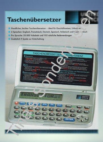Taschenübersetzer - elektronisches Wörterbuch Sprachübersetzer Reiseübersetzer Translator Übersetzer - Deutsch, Englisch, Französisch, Spanisch, Italienisch und Niederländisch