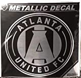 Atlanta United 6'' Silver Metallic Mirrored Style Vinyl Auto Decal MLS Soccer Football Club