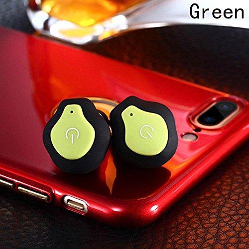 calistouk Mini TWS Gemelos inalámbrico in-ear estéreo deportes Bluetooth auriculares auriculares auriculares verde
