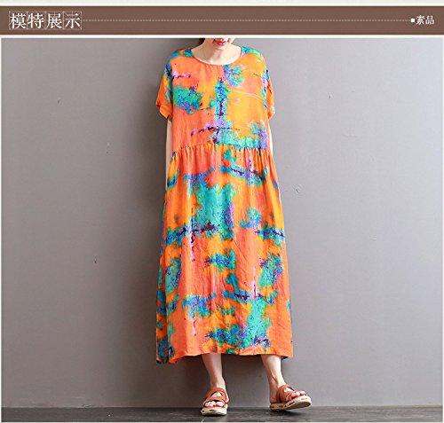 - XiaoGao l'été, Robe, Jupe à Manches Longues, imprimés
