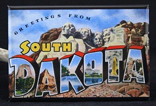 Greetings From South Dakota Refrigerator Magnet.