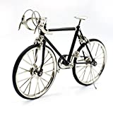 T.Y.S Racing Bike Model Alloy Simulated Road Bicycle Model Decoration Gift,Black