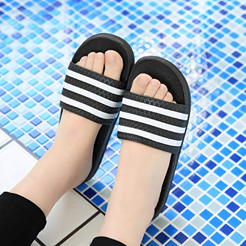 Plastic Bathroom BLACK Slippers 40EU Sandals Home Size Girls 39 Couple Home AMINSHAP slip Indoor Black Color Non 77WqnS1BXz