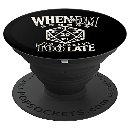 Tabletop dice game DM boardgame Master Role Play PopSockets Grip and Stand for Phones and Tablets (Texting Games To Play With Your Girlfriend)