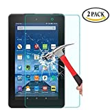 [2 Pack] Fire 7 / Fire 7 2015 Tempered Glass Screen Protector, Asstar High Definition (HD) Touch screen 0.3mm 2.5D for Amazon Fire Tablet (7 inch Display, 2015 Release Only)