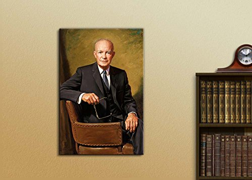 Portrait of President Dwight D Eisenhower Inspirational Famous People Series