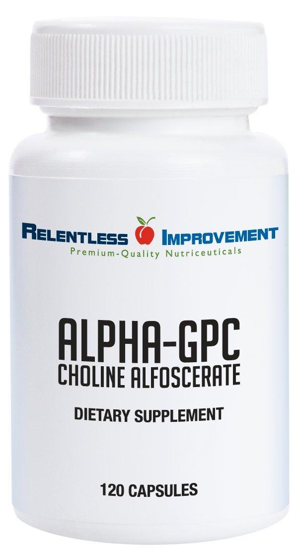 Relentless Improvement Alpha GPC 120 Capsules No Fillers No Soy by Relentless Improvement