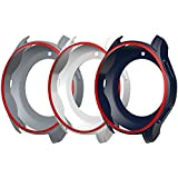 Awinner Case for Gear S3 Frontier SM-R760, Shock-proof and Shatter-resistant Protective Band Cover Case for Samsung Gear S3 Frontier SM-R760 Smartwatch (White,Gray,Blue)