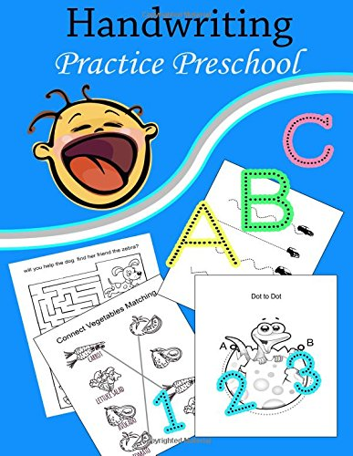 Download Handwriting Practice Preschool: : Handwriting Workbook and Practice for Kids Ages 3-5 (learn writing, Lines, dot to dot, ABC,1-10 and game puzzle) ebook