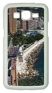 Samsung Galaxy Grand 2 Case - Monaco Seaside Building Racing PC Hard Case for Samsung Galaxy Grand 2 / Samsung Galaxy 7106 - White