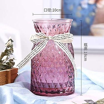 WANGZHAO Creative Botellas De Cristal, Transparente Tallado, Lily Jarrones, Adornos, Estilo Europeo