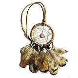 MoGist Indian Handmade Dreamcatcher Pendant Car Ornament Feather Ornament