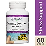 Cheap Natural Factors – Stress-Relax Serenity Formula with Sensoril, Herbal Formulation, 60 Vegetarian Capsules
