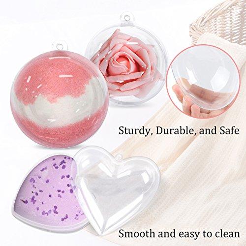 GameXcel Clear Plastic Ornaments Balls - Bath Bomb Mold Set