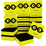 18 Dry Erase Erasers - Magnetic Whiteboard Eraser | for Home - Office - School - Classroom - Teacher