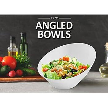Finest Amazon.com: DOWAN Porcelain Salad Bowls/French Fries Serving Bowls  ZQ63