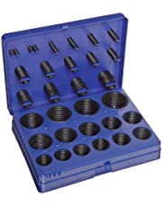 Buna-N O-Ring Kit, 70A Durometer, 382 Pieces, 30 Sizes, Black