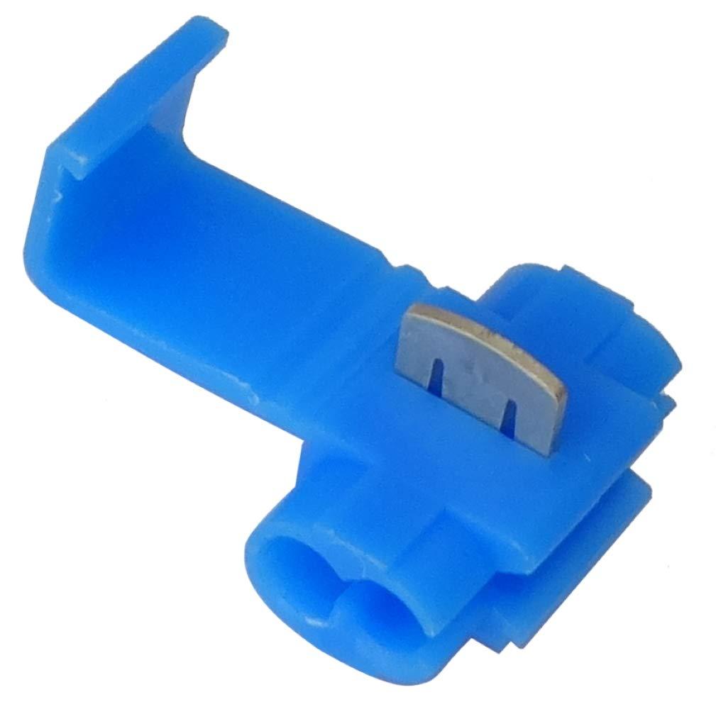 AERZETIX 1.5-2.5mm/² Juego de 100 conectores r/ápidos terminales el/éctricos auto desnudistas para secci/ón de cable racor clipsable