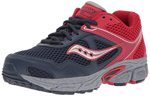 Saucony Boys' Cohesion 10 LTT Sneaker, Red, 6 Wide US Big Kid (Youth Grid Saucony)