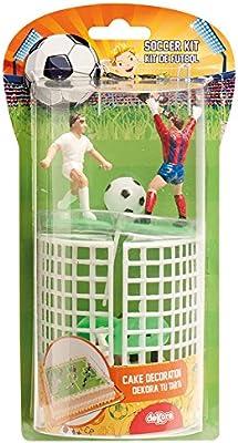 dekora 302018 Decoración para Tartas con Figuras de Futbol de Pv, PVC, 6x5x8 cm