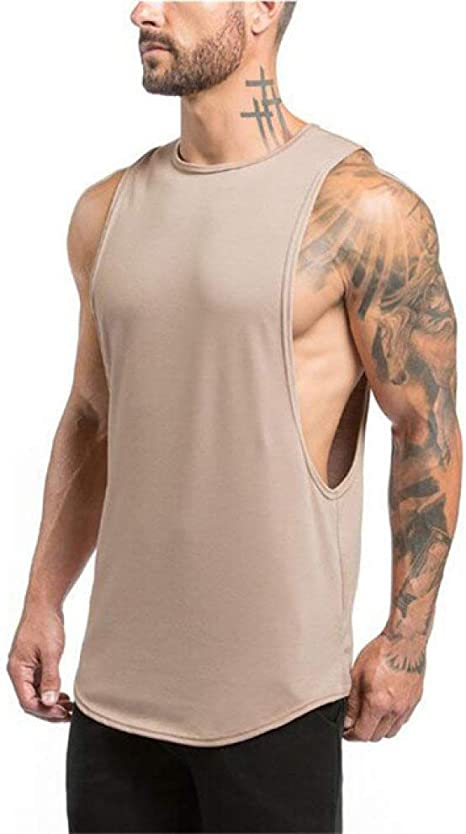 DSHRTY Top de Verano,Ropa Tank Top Hombre Fitness Singlet ...