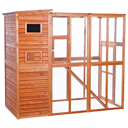Trixie Pet Products Wooden Outdoor Cat Run, Glazed Pine