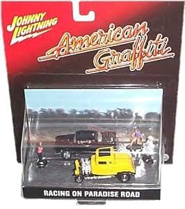 Amazon Com Johnny Lightning American Graffiti Racing On Paradise Road Diorama