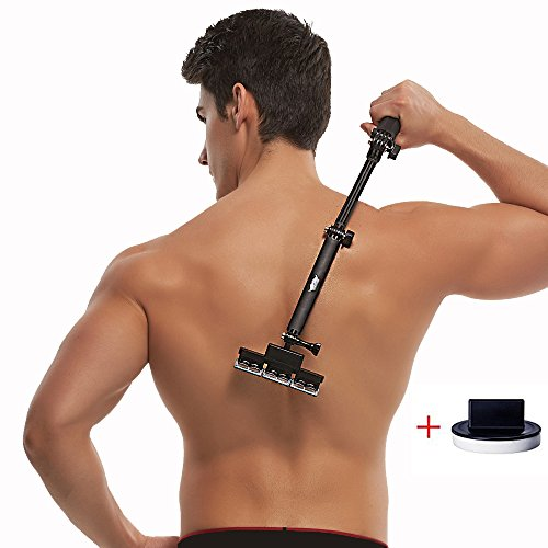 Back shaver, 2nd-generation body grooming kit for back hair removal Do it yourself with body hair shaver ( with 5 Blades Per Count )