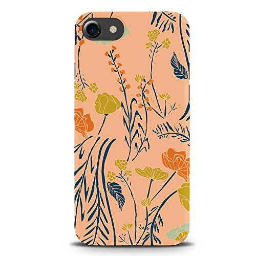 Koveru Back Cover Case for Apple iPhone 7 - Texture of grass & Flowers