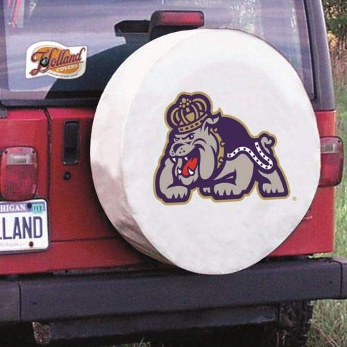 Holland Covers TCLGJmsMadWT White 31 1/4 x 11 Spare Tire Wheel Cover (James Madison for Jeeps RV or Trailer - Exact Fit)