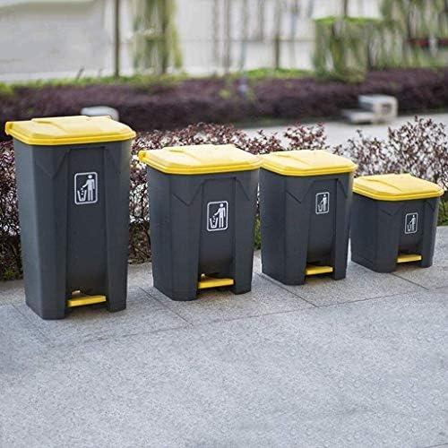 POIUY ペダルビン蓋コレクションウィズ商業ゴミ箱、屋外家庭用キッチン衛生ごみ箱ストリートガーデン (Color : Gray, Size : 100L)