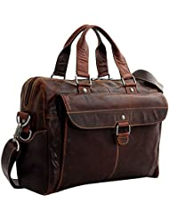 Jack Georges Voyager Top Zip Briefcase with Front Pocket