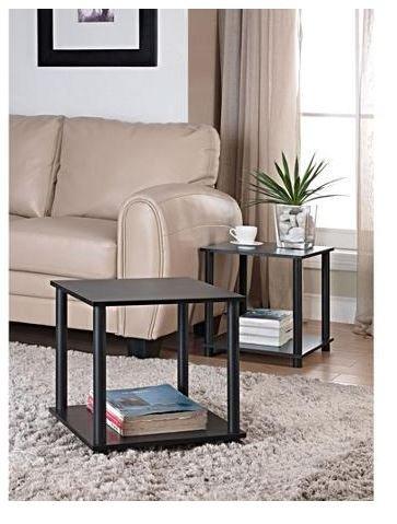 Tools Single Cube Storage Shelf Side Tables, Set of 2 (Living Room Side Tables Set Of 2)