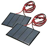 2pcs 1.5W 12V Solar Panel Small Cell Module Epoxy Charger w/ 1M...