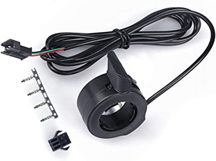 Thumb Throttle With Cable 36V 48V 72V Assist For Electric Bicycle Accessories