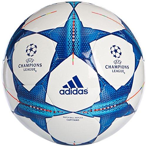 adidas Erwachsene Fußball Balón, White/Bright Cyan/Bright Blue, 5, 4055339363537