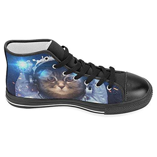 Interestprint Kick Bästa Klassiska Tillfälliga Duk Mode Skor Tränare Snörning Sneakers Katt