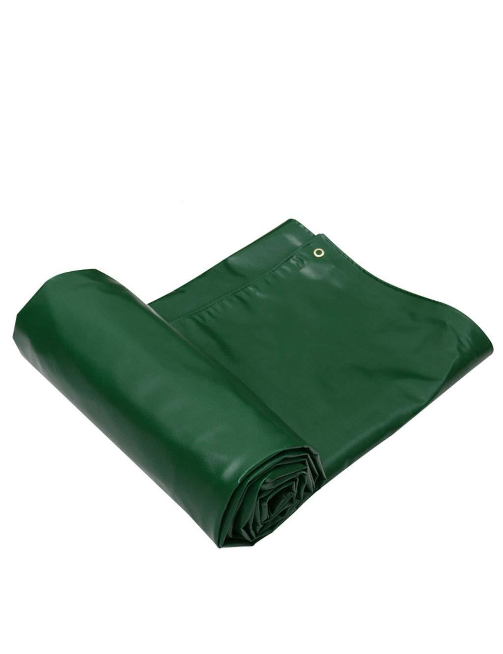 WANPB Gewebtes Polyethylen mit Hoher Dichte Und Doppeltes Laminat Schwere Plane, Grün - 100% Wasserdicht und UV-Besteändig