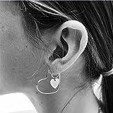 Meolin Heart Shaped Hoop Statement Earrings for Womens