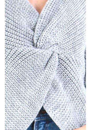 dmarkevous Femme Pull avec Tricot crois Sublime Gris rH6rq