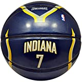 Spalding NBA Indiana Pacers Jermaine Oneal Team Colors and Logo Under Glass Basketball