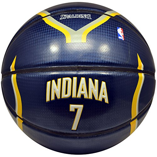 Glass Logo Under Team (Spalding NBA Indiana Pacers Jermaine Oneal Team Colors and Logo Under Glass Basketball)