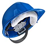 THREE Cotton Sweatbands for hard hats SOFT COTTON - EASY VELCRO ATTACHMENT - BEST VALUE - WASHABLE AND ESPECIALLY EASY TO ATTACH TO HARD HATS.