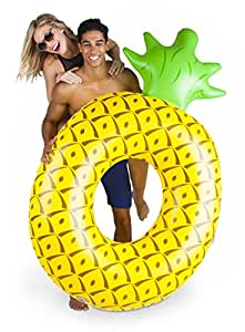 BigMouth Inc Giant Pineapple Pool Float, Funny Fruit Inflatable Vinyl Summer Pool or Beach Toy, Patch Kit Included