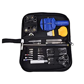 TMS Watch Repair Tool Kit Opener Link Remover Spring Bar Band Pin w/ Carrying Case